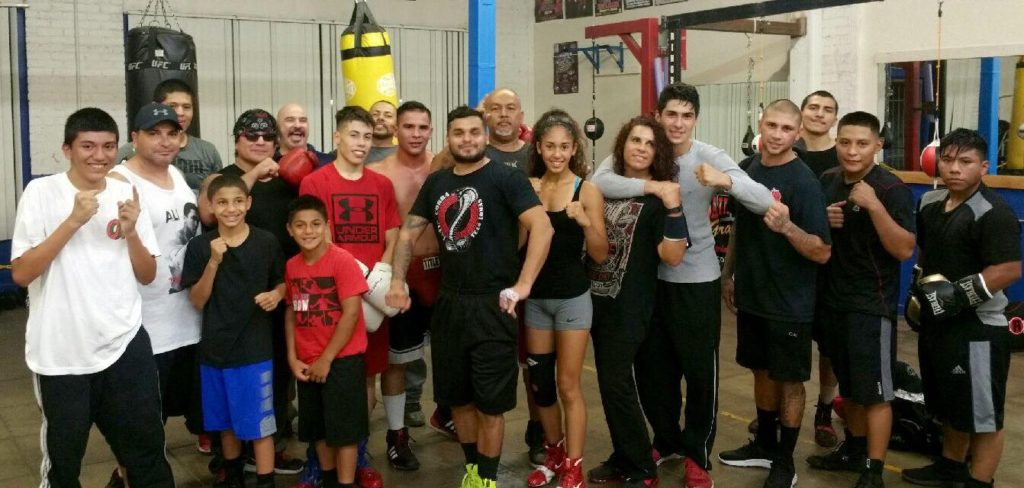 Members at Main Event Boxing Gym in Fresno CA