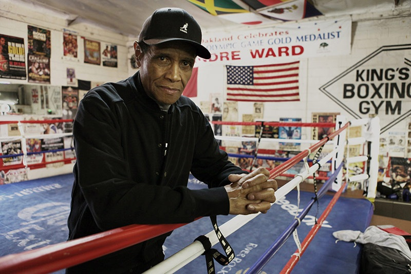 King's Boxing Gym - Oakland, CA. Co-owner Charles King.