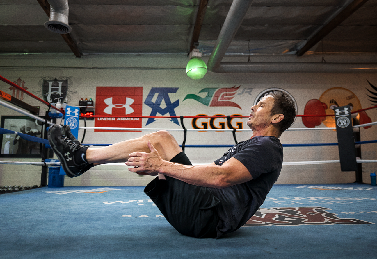 Peter Berg Working Out At Churchill Boxing Club