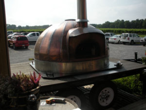 outdoors wood burning copper oven