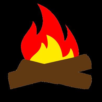 campfire cartoon logo