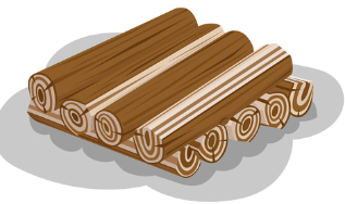 wood logs stacked ready to burn graphic