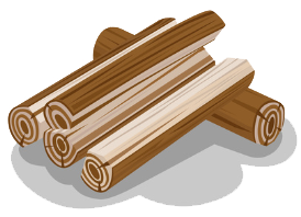 wood logs graphic