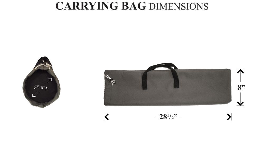 diagram of gray THF-1 carrying bag