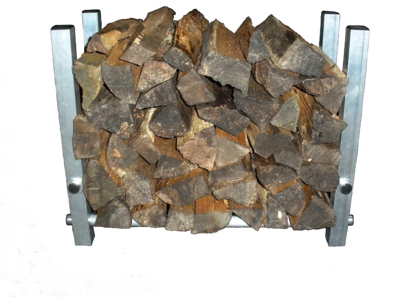 TFH-1 firewood holder filled with split wood