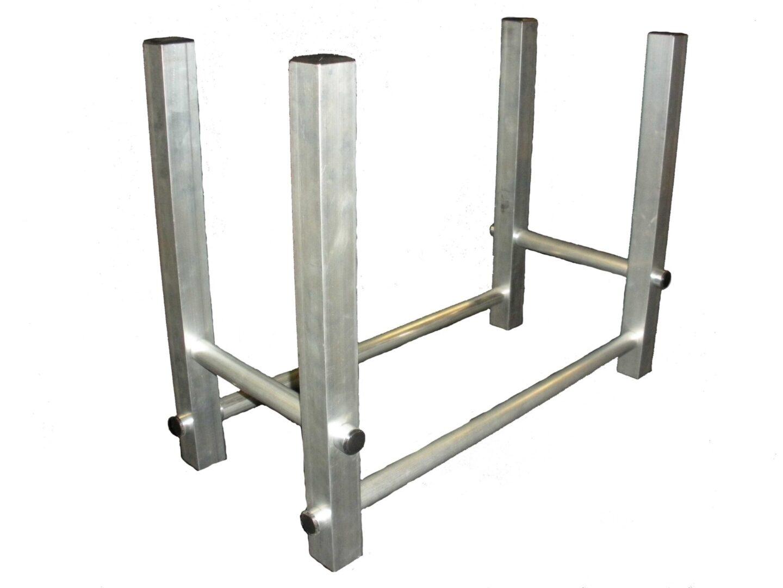 aluminum framed firewood holder