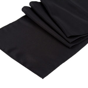 Black Runner | Celebrations by Rent-All located in Sioux Center | Wedding Rental | Table Runners For Rent
