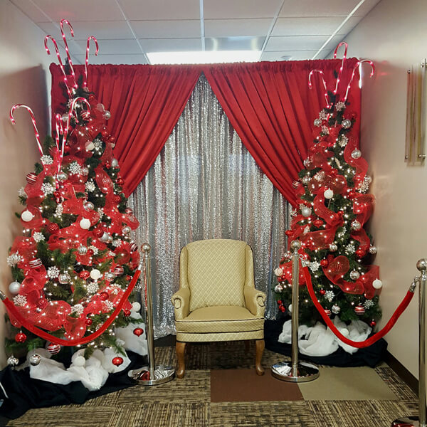 Christmas Trees & Santa Chair | Celebrations by Rent-All located in Sioux Center | Christmas Decor For Rent