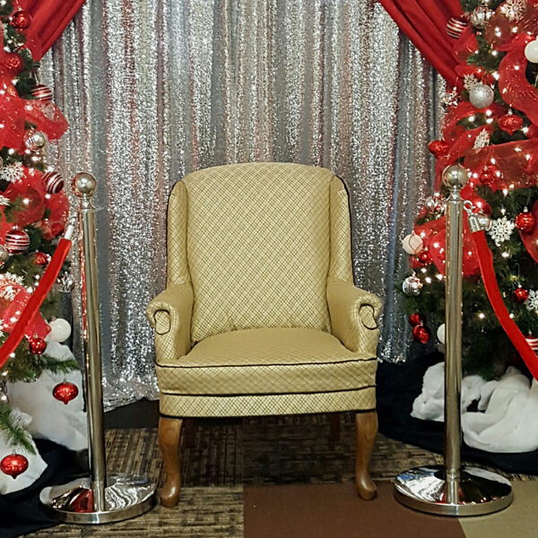 Santa Chair | Celebrations by Rent-All located in Sioux Center | Christmas Decor For Rent