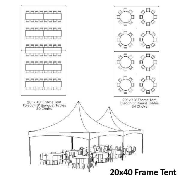 20x40 Frame Tent | Celebrations by Rent-All located in Sioux Center and Storm Lake | Tents for Rent
