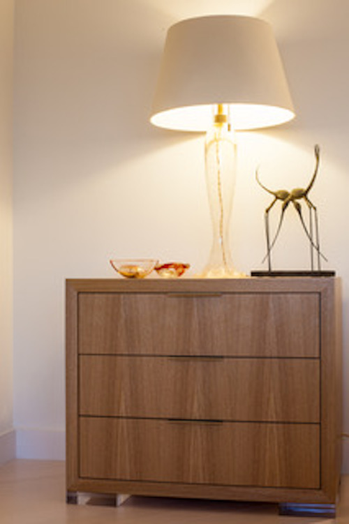 Custom Nightstands in Japanese ash with lucite feet