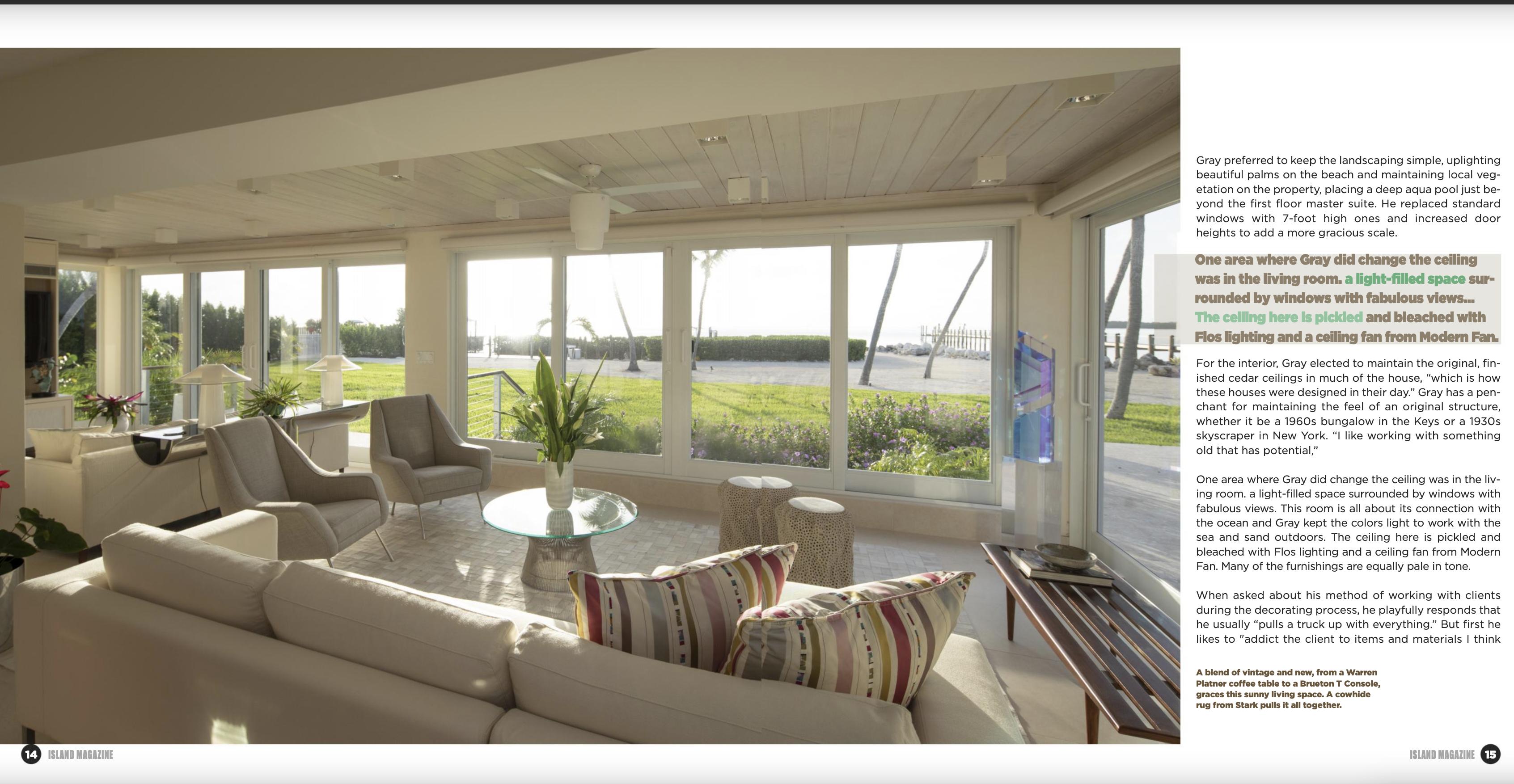 Island Times Interior Design Press Fort Lauderdale