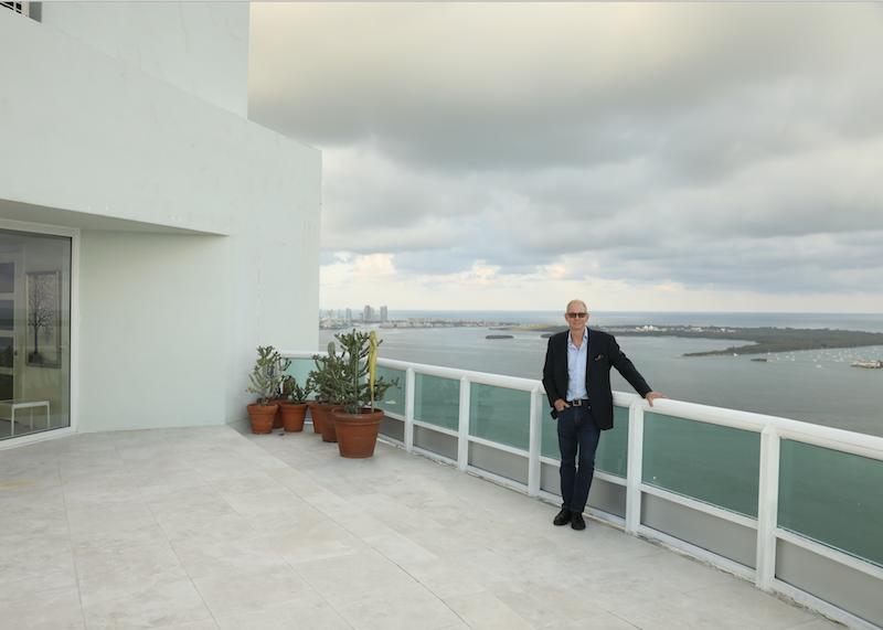 Kevin Gray on Santa Maria Brickell rooftop