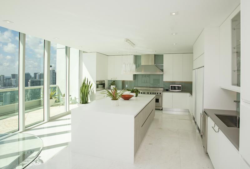 Kitchen- Santa Maria Penthouse by Interior Designer Kevin Gray