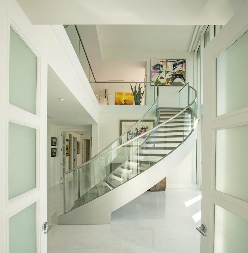 Staircase- Santa Maria Penthouse by interior designer Kevin Gray