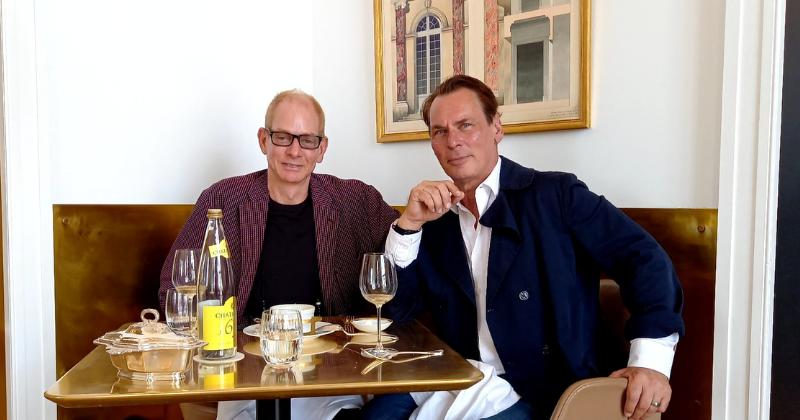 With Kevin Gray @ The Paris Flea Market