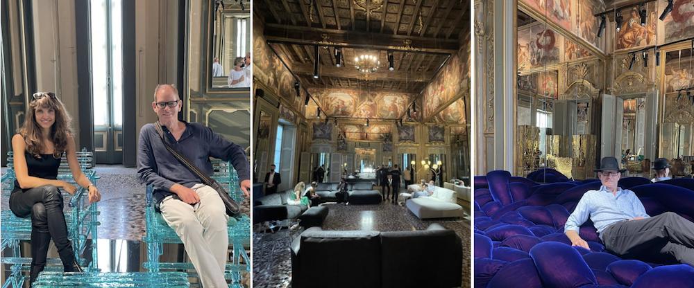 Kevin Gray at Edra Palazzo Duriniduring Milano design week
