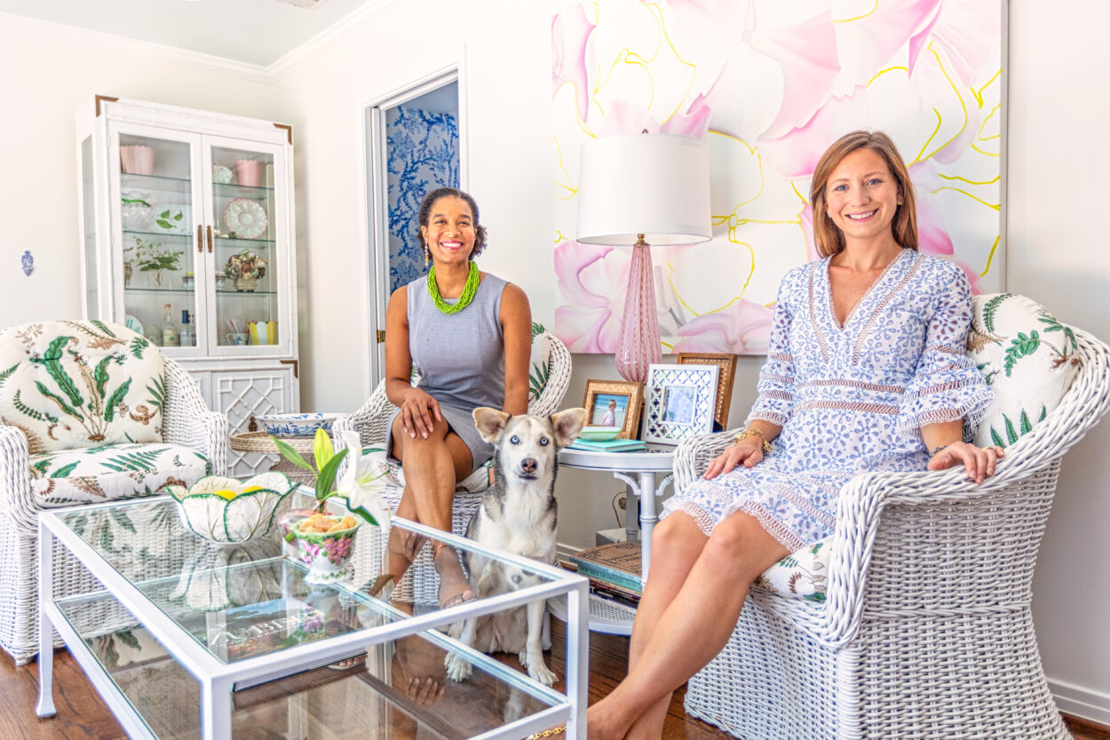Susie Kwiatkowski's home tour captures her curated aesthetic perfectly. It is a blend of antiques with Susie's colorful, floral oil paintings.