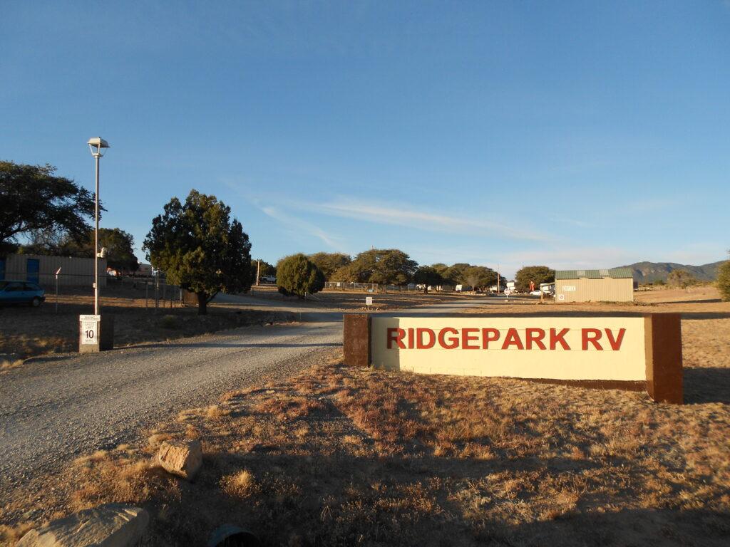 Ridgepark front sign