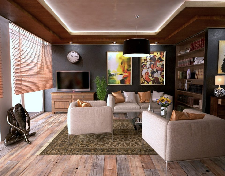 professionally cleaned modern living room