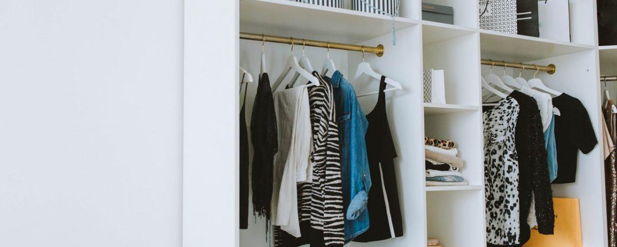 well organized closet space