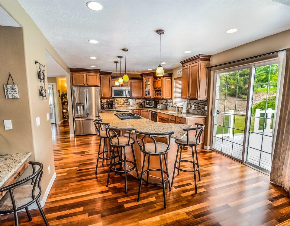 Professionally cleaned and shiny hard wood floors