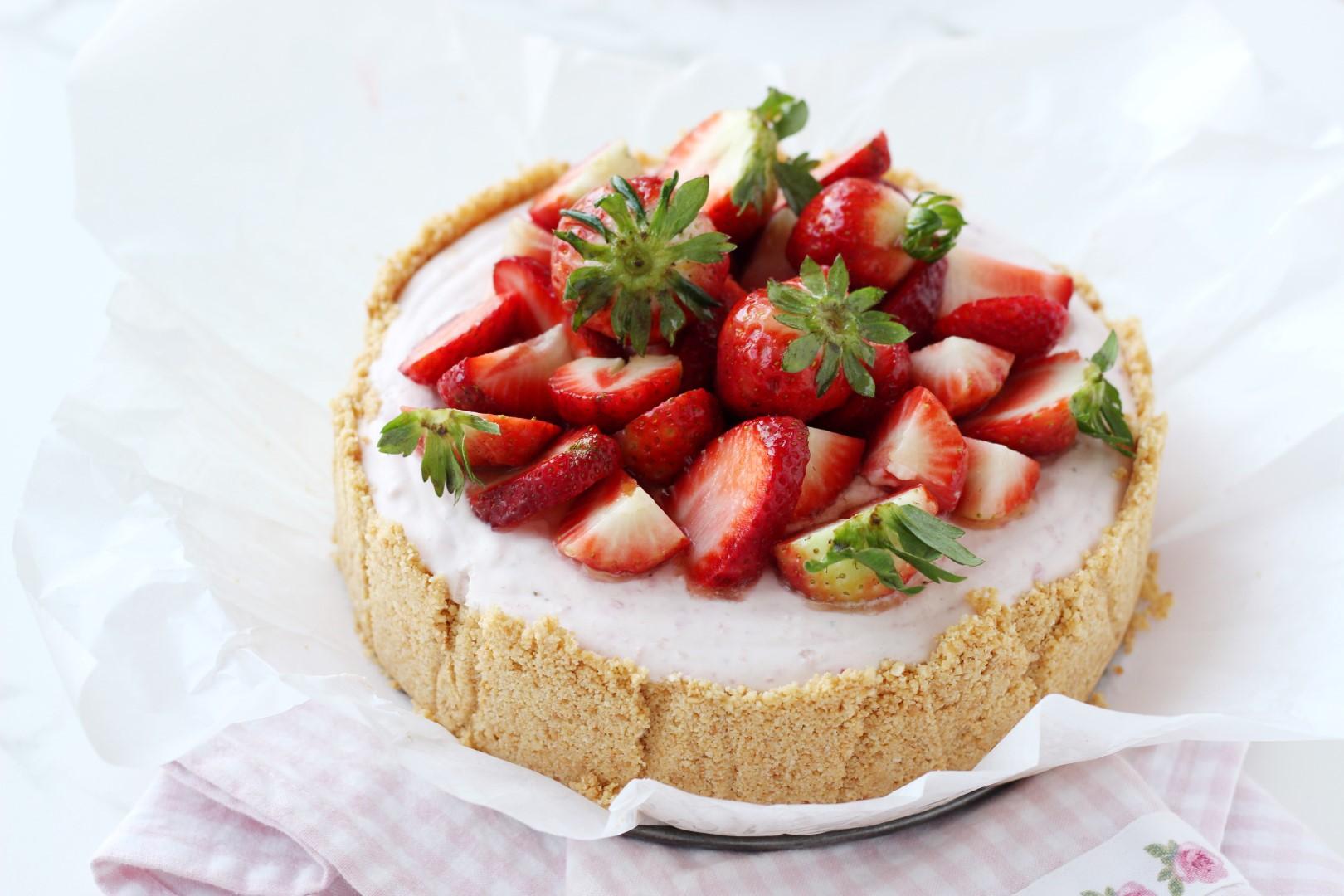 cheesecake de frutillas, receta mousse, casancrem, recetas de cocina, postre