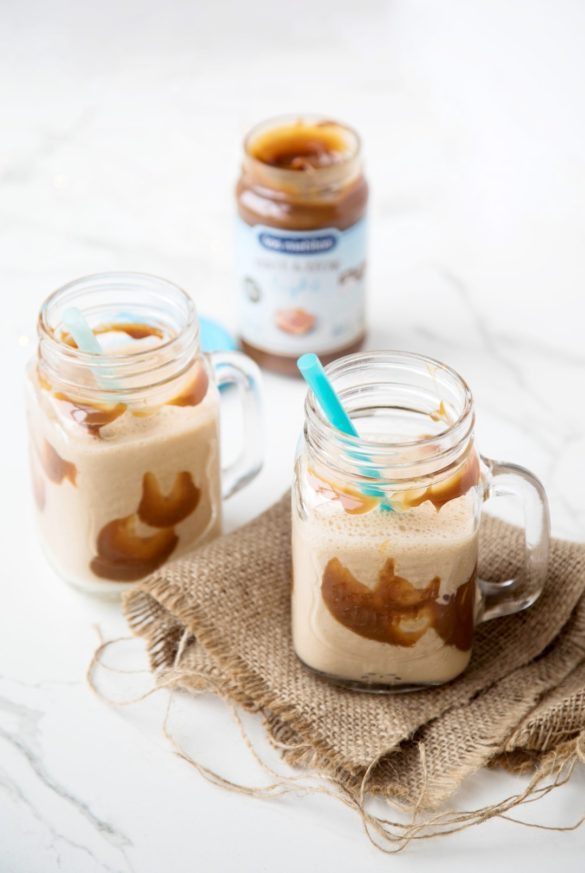 Milkshake de banana y dulce de leche light, batido, calorías, recetas de cocina, desayunos,