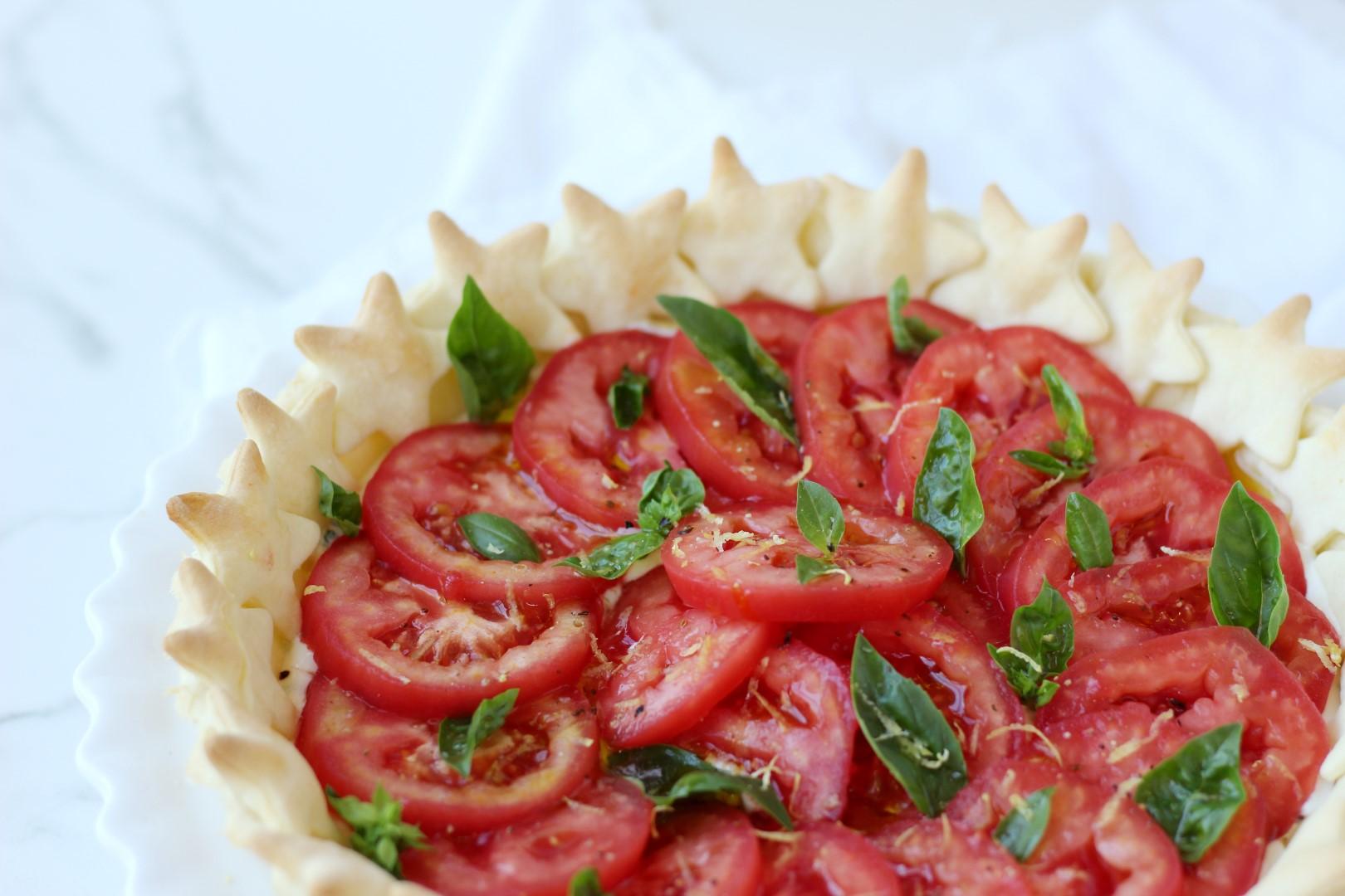 tarta de tomates, tartas fáciles, recetas de cocina, masa de tarta, verano.