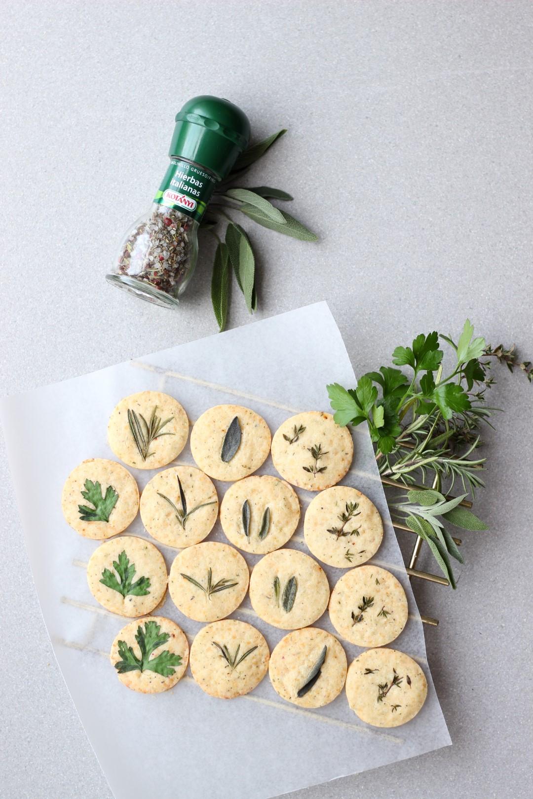 galletitas shortbread de parmesano, molinillo hierbas italianas kotányi, como hacer galletitas de manteca.