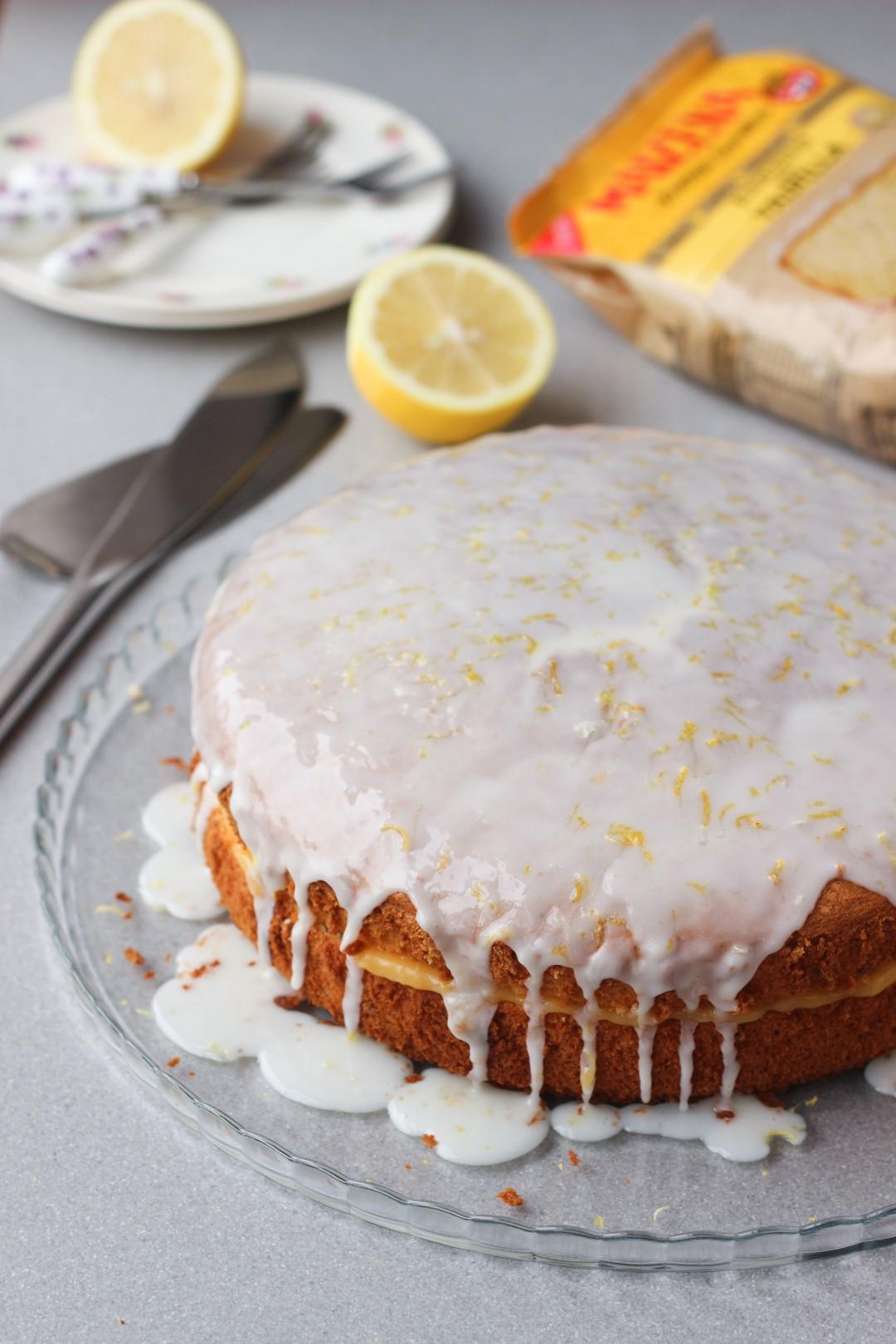 bizcochuelo de vainilla buenas semillas Maizena, receta sin gluten, receta sin tacc, apto para celíacos, torta de cumpleaños, lemon curd.