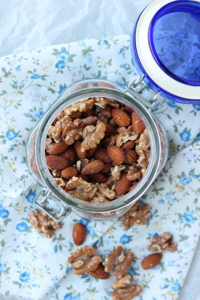 frutos secos tostados, como tostar frutos secos, antinutrientes de frutos secos, recetas con frutos secos,  kotányi, kotanyi, beneficios de los frutos secos.