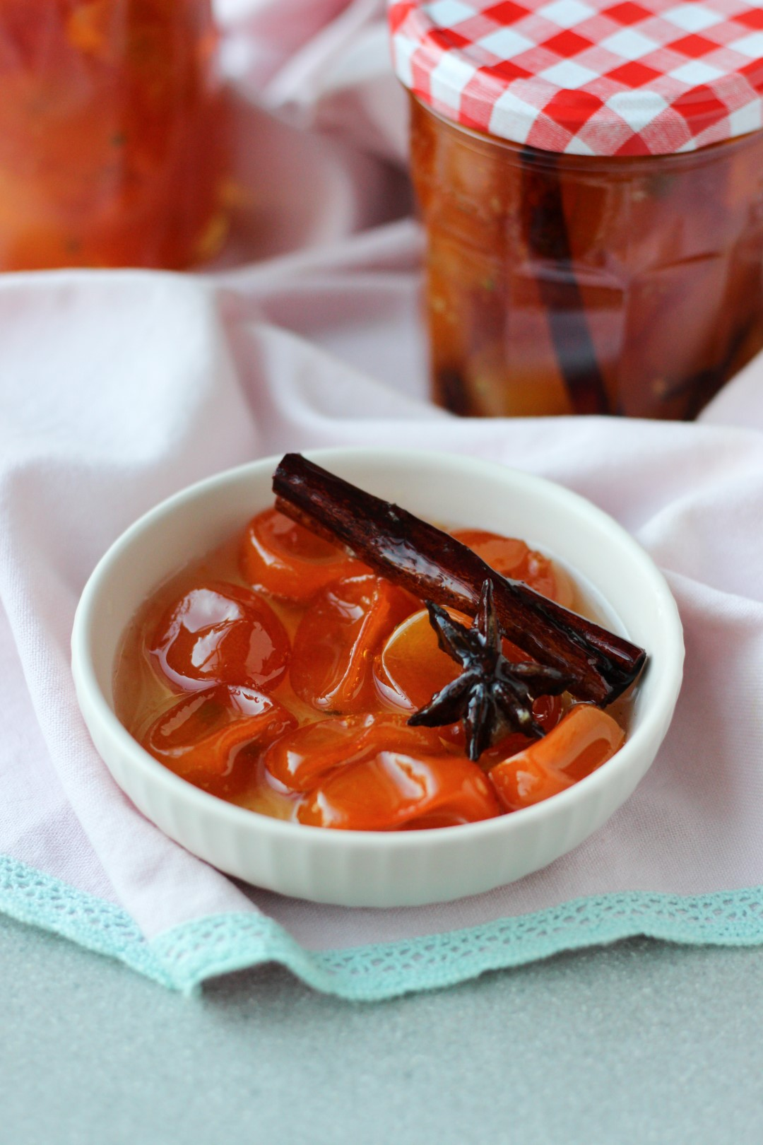 quinotos en almíbar, receta rápida, fruta en almíbar, recetas Essen.