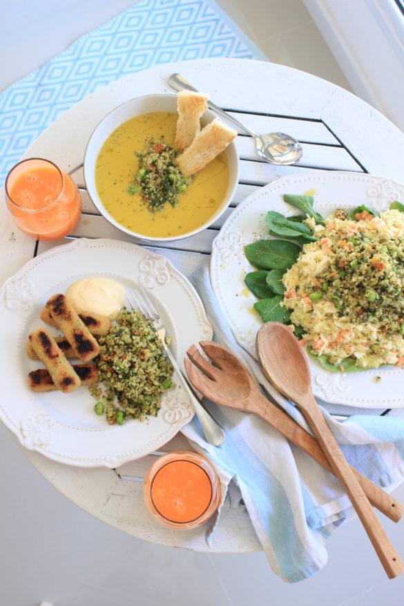 mix de quinoa y vegetales Ardo, recetas saludables, almuerzos light