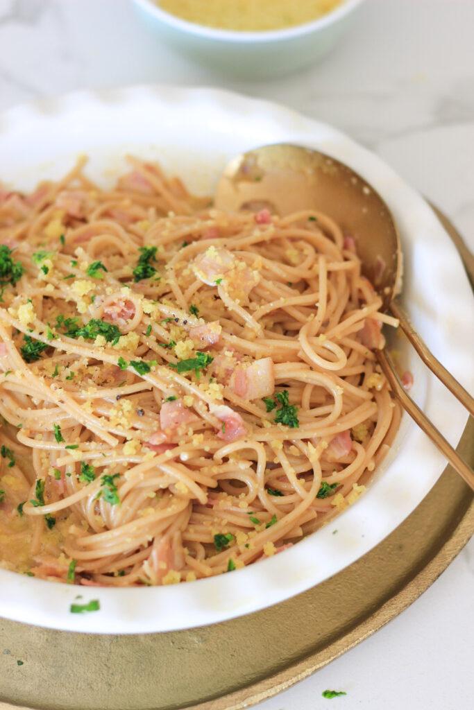 spaghetti a la carbonara, panceta cattivelli, recetas italianas, recetas de cocina, pasta, pasta casera,