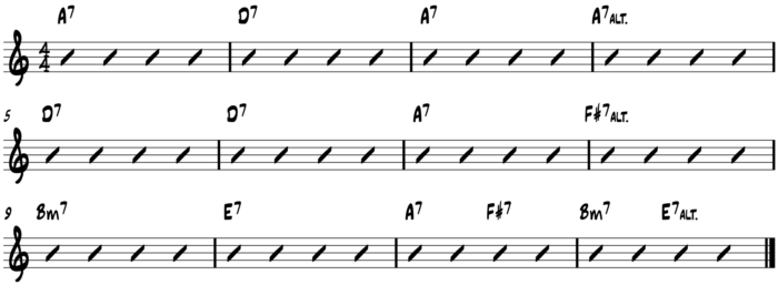 10-20-15 PTC Turning the Corner 12 bar progression - no arrows