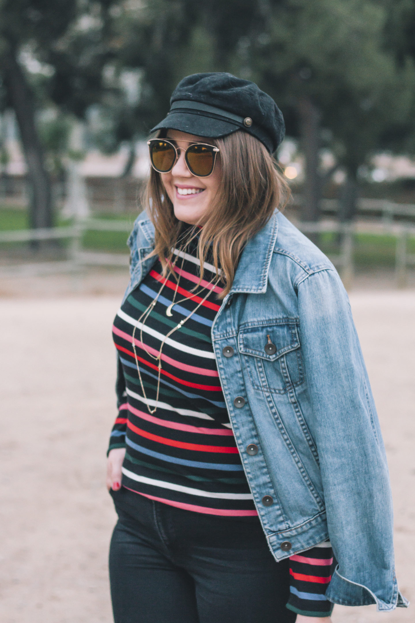 candy stripe turtleneck, holiday style, holiday outfit ideas