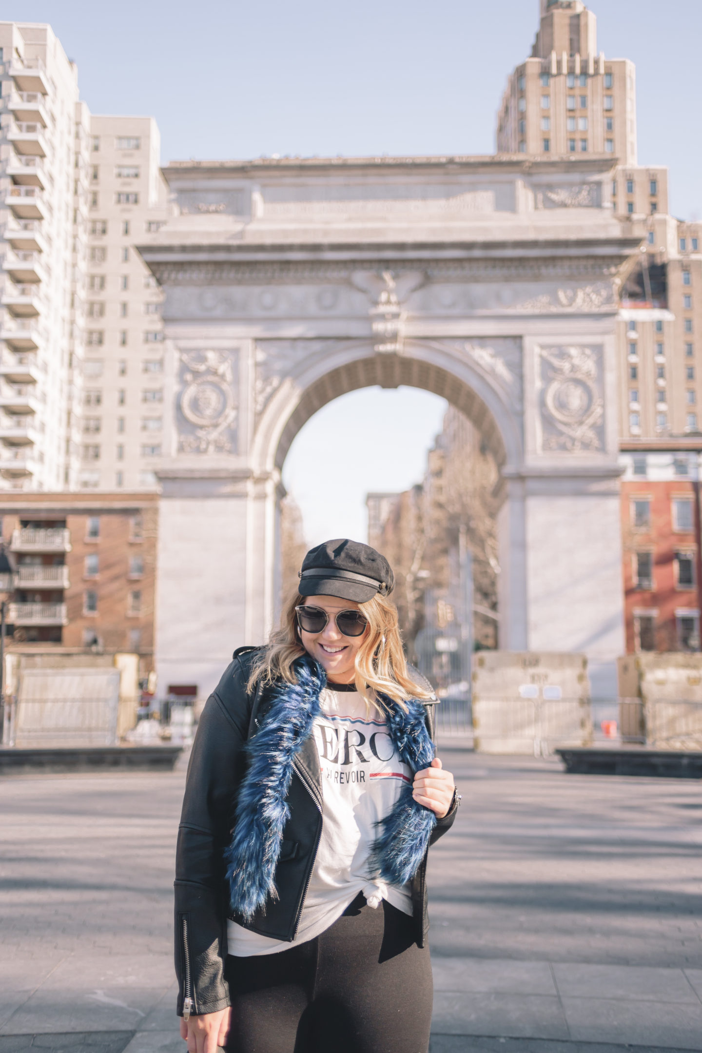 Flare Pants at NYFW, washington square park, winter outfit, nyfw street style
