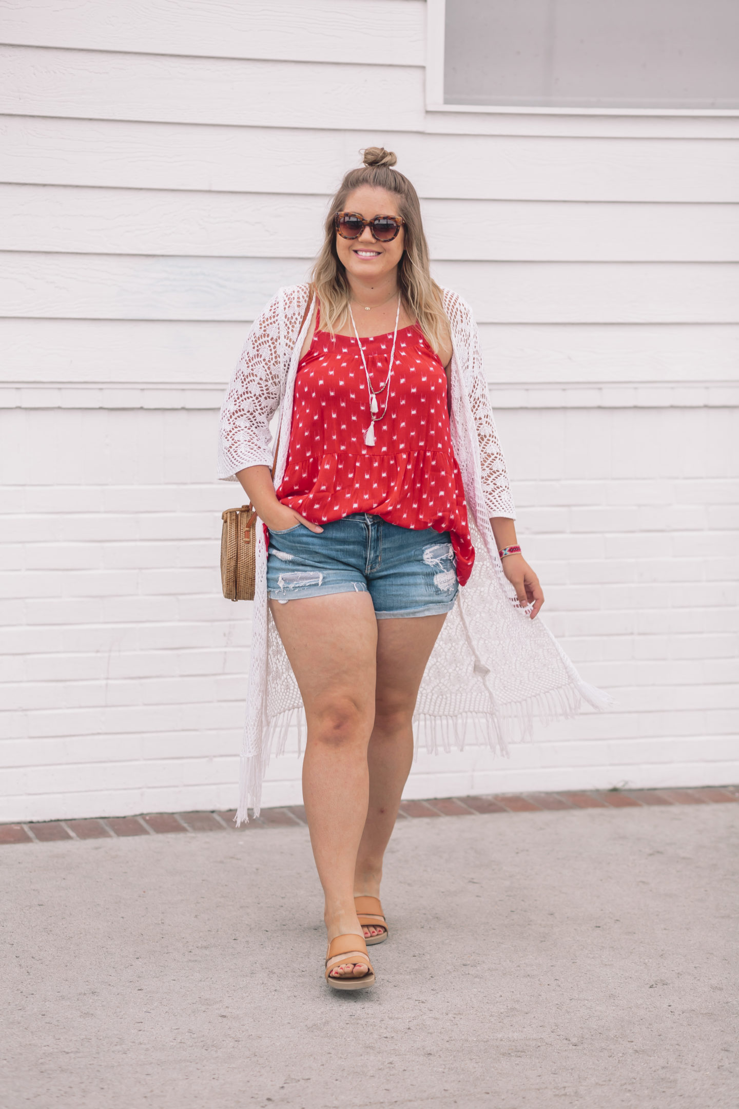 easy 4th of July outfit at Balboa Fun Zone