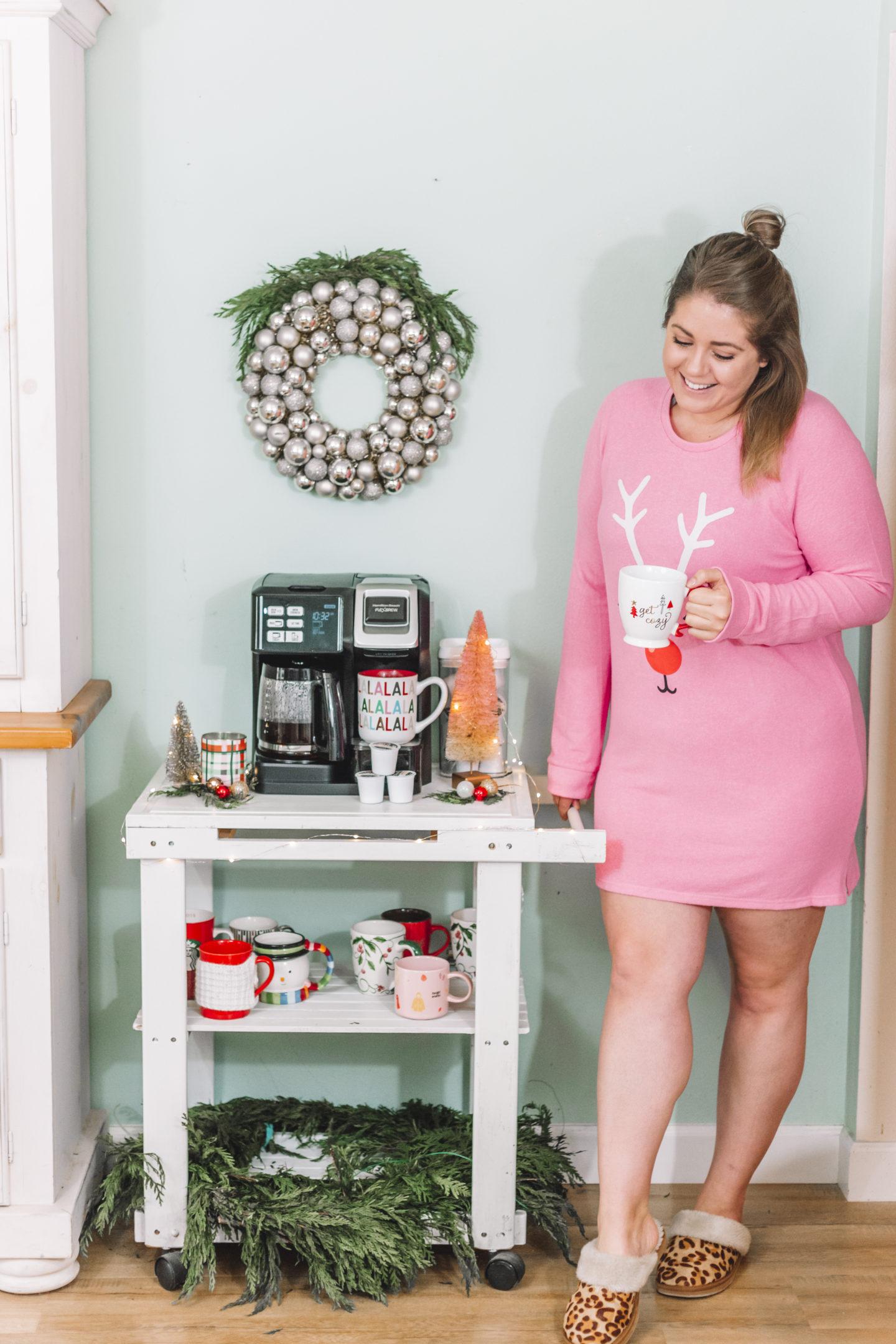 Brewing Up Holiday Cheer with Hamilton Beach - Christmas coffee bar
