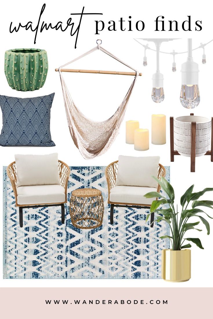 AFFORDABLE PATIO FINDS FROM WALMART