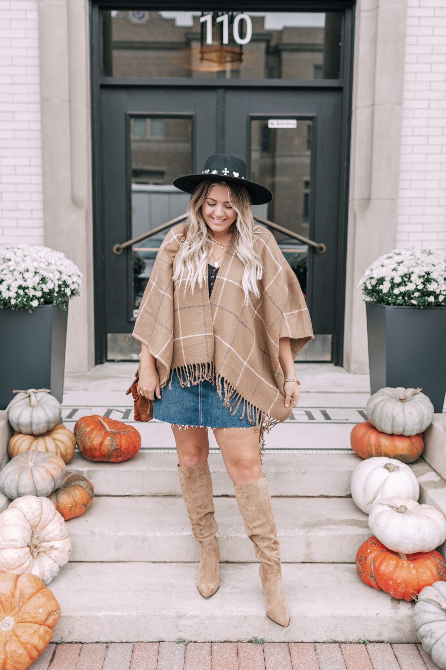 fringe poncho outfit