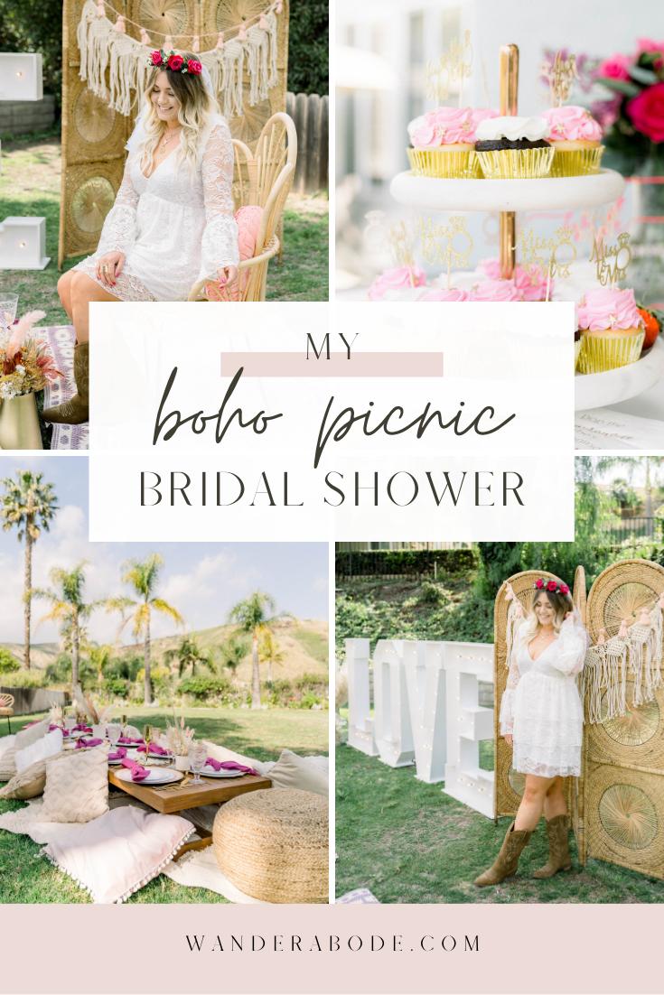 My Boho Picnic Bridal Shower