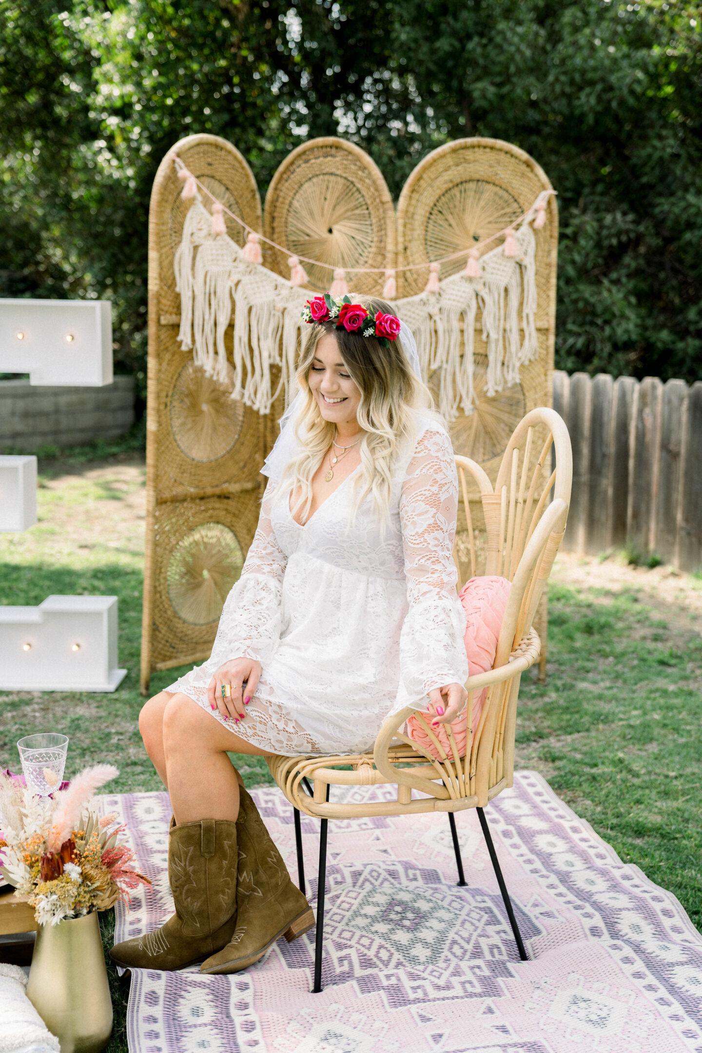 Show Me Your Mumu white dress // boho bridal shower dress // boho bridal shower decor