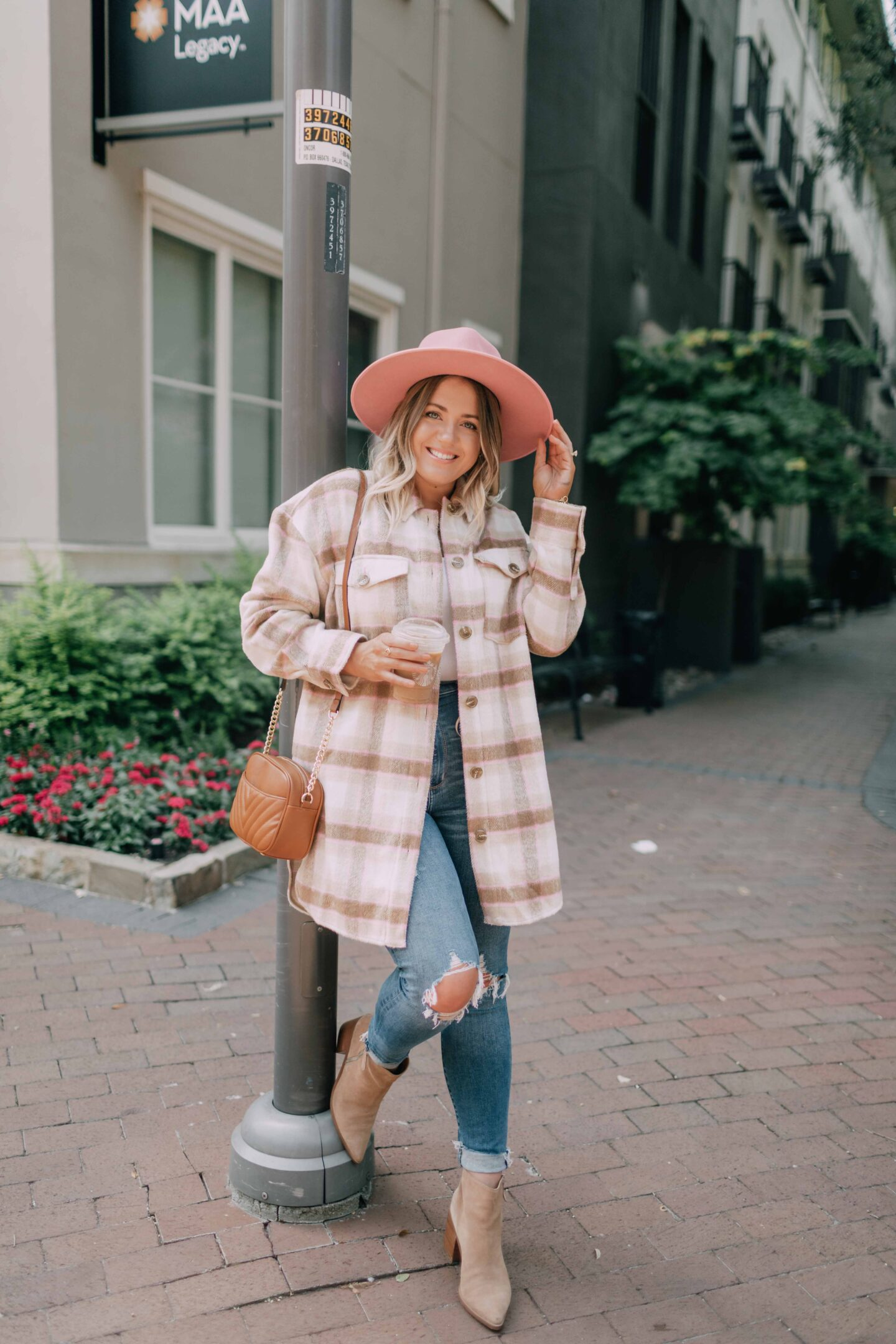 Plaid shirt jacket from the Nordstrom Anniversary Sale