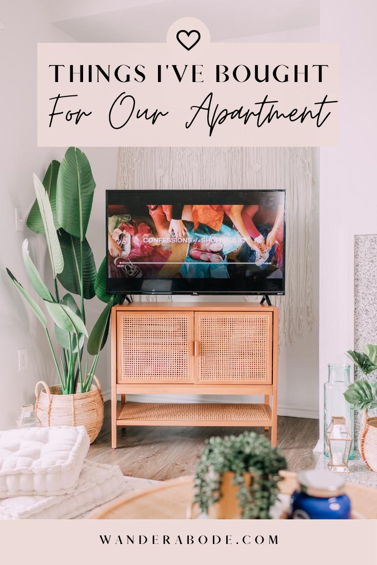 Things I've Bought for Our First Apartment // wanderabode.com; boho home decor, opalhouse, boho decor, apartment decor