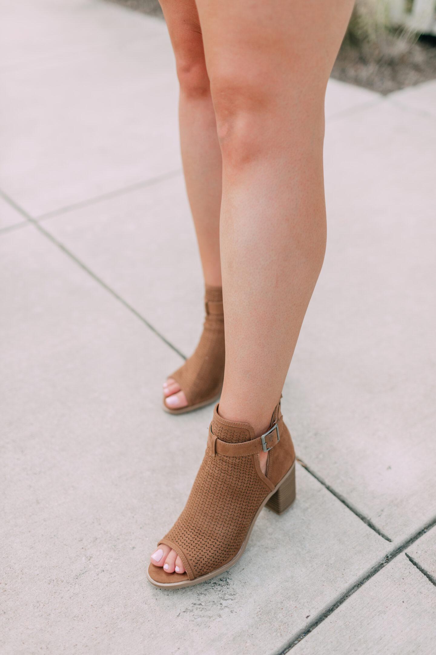 Target open toe bootie heels