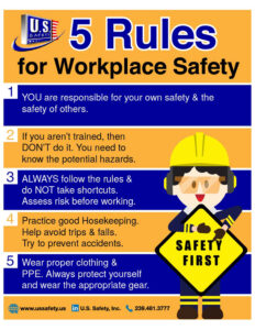 5 rules for workplace safety