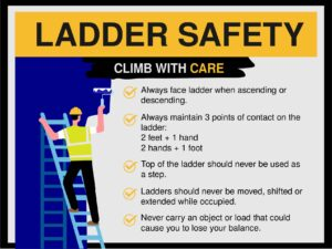 ladder safety poster tips