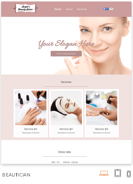 Beauty Products Website